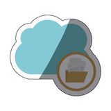 Isolated file and cloud design. File and cloud icon. Folder document data archive and storage theme. Isolated design. Vector illustration Stock Photography