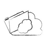 Isolated file and cloud design. File and cloud icon. Folder document data archive and storage theme. Isolated design. Vector illustration Stock Photos
