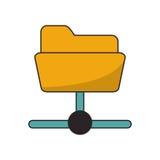 Isolated file and data base design. File icon. Data base center and web hosting theme. Isolated design. Vector illustration Stock Photo