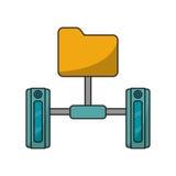 Isolated file and data base design. File icon. Data base center and web hosting theme. Isolated design. Vector illustration Stock Image