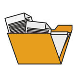 Isolated file design. File icon. Folder document data archive and storage theme. Isolated design. Vector illustration Stock Image