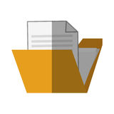 Isolated file design. File icon. Folder document data archive and storage theme. Isolated design. Vector illustration Royalty Free Stock Photo