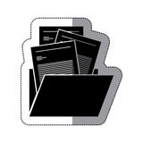 Isolated file design. File icon. Folder document data archive and storage theme. Isolated design. Vector illustration Royalty Free Stock Photography