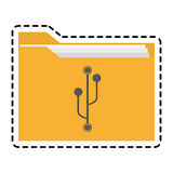 Isolated file design. File icon. Folder document data archive and storage theme. Isolated design. Vector illustration Stock Images