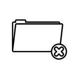 Isolated file design. File icon. Folder document data archive and storage theme. Isolated design. Vector illustration Royalty Free Stock Image