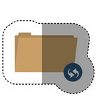 Isolated file design. File icon. Folder document data archive and storage theme. Isolated design. Vector illustration Stock Photos