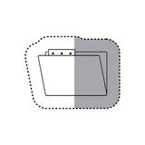 Isolated file design. File icon. Folder document data archive and storage theme. Isolated design. Vector illustration Stock Photo