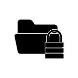 Isolated file padlock and data base design. File and padlock icon. Data base center and web hosting theme. Isolated design. Vector illustration Royalty Free Stock Photography