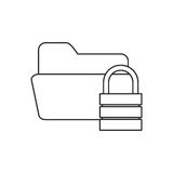 Isolated file padlock and data base design. File and padlock icon. Data base center and web hosting theme. Isolated design. Vector illustration Royalty Free Stock Photos
