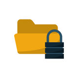Isolated file padlock and data base design. File and padlock icon. Data base center and web hosting theme. Isolated design. Vector illustration Stock Images