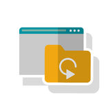 Isolated file website and data base design. File and website icon. Data base center and web hosting theme. Isolated design. Vector illustration Royalty Free Stock Photo