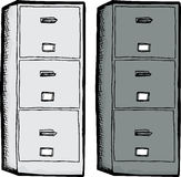 Isolated Filing Cabinets Stock Images