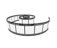 Isolated film. Isolated threedimensional film strip; clip-art Royalty Free Stock Images