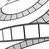 Isolated film reel. Isolated movie/photo film - illustration on white background Stock Images