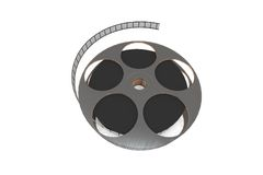 Isolated film reel. Closeup - illustration on white background Stock Photography