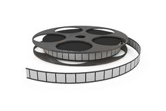 Isolated film reel closeup. Illustration on white background Stock Photos