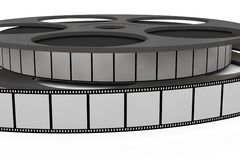 Isolated film reel closeup. Illustration on white background Royalty Free Stock Image