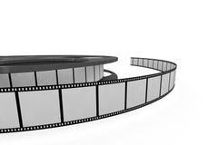 Isolated film reel closeup Stock Photo