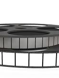 Isolated film reel closeup. Illustration on white background Royalty Free Stock Photo