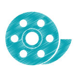 Isolated film reel design. Film reel icon. Cinema movie video film and media theme. Isolated design. Vector illustration Royalty Free Stock Image