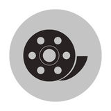 Isolated film reel design. Film reel icon. Cinema movie video film and media theme. Isolated design. Vector illustration Royalty Free Stock Photos