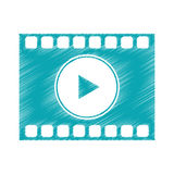 Isolated film strip design. Film strip icon. Cinema movie video film and media theme. Isolated design. Vector illustration Stock Image