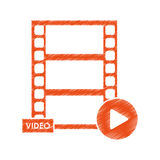 Isolated film strip design. Film strip icon. Cinema movie video film and media theme. Isolated design. Vector illustration Royalty Free Stock Photos