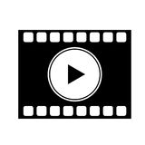 Isolated film strip design. Film strip icon. Cinema movie video film and media theme. Isolated design. Vector illustration Royalty Free Stock Photography