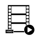 Isolated film strip design. Film strip icon. Cinema movie video film and media theme. Isolated design. Vector illustration Stock Photography