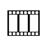 Isolated film strip design. Film strip icon. Cinema movie video film and media theme. Isolated design. Vector illustration Royalty Free Stock Images