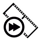 Isolated filmstrip icon Stock Photo