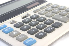 Isolated financial calculator Royalty Free Stock Images