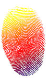 Isolated finger print Royalty Free Stock Photo