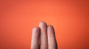Isolated finger on which you can draw Royalty Free Stock Photos