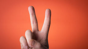 Isolated finger on which you can draw Stock Image