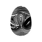 Isolated fingerprint design. Fingerprint icon. Identity security print and privacy theme. Isolated design. Vector illustration Royalty Free Stock Photo