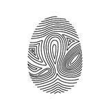 Isolated fingerprint design. Fingerprint icon. Identity security print and privacy theme. Isolated design. Vector illustration Royalty Free Stock Image