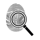 Isolated fingerprint design. Fingerprint icon. Identity security print and privacy theme. Isolated design. Vector illustration Stock Photos