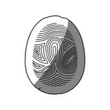 Isolated fingerprint design. Fingerprint icon. Identity security print and privacy theme. Isolated design. Vector illustration Royalty Free Stock Images