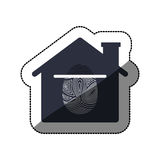 Isolated fingerprint and house design. Fingerprint and house icon. Identity security print and privacy theme. Isolated design. Vector illustration Stock Image