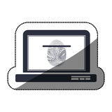 Isolated fingerprint and laptop design Stock Image
