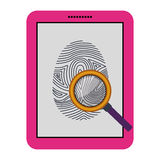 Isolated fingerprint and laptop design Royalty Free Stock Photos