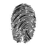 Isolated fingerprint symbol Royalty Free Stock Images