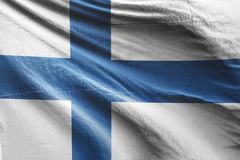 Isolated Finland Flag waving, 3D Realistic Finland Flag Rendered. Image Royalty Free Stock Photography