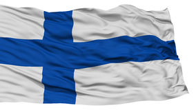 Isolated Finland Flag. Waving on White Background, High Resolution Stock Photos