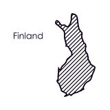 Isolated finland map design. Finland map icon. Europe nation and government theme. Isolated design. Vector illustration Stock Image