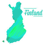 Isolated Finnish map. On a white background, Vector illustration Stock Photo