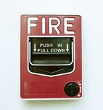 Isolated Fire Alarm Image royalty free stock photos