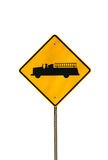 Isolated fire truck sign. A Isolated fire truck sign on white background Royalty Free Stock Photo