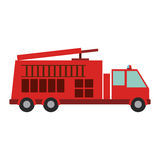 Isolated fire truck vehicle design. Fire truck vehicle icon. Emergency tool rescue save and department theme. Isolated design. Vector illustration Stock Photography